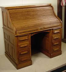 oak roll top secretary desk decorative desk decoration