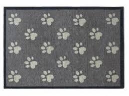 design fussmatten tierische fußmatten premium hunde fußmatte pfoten 50 x 75 cm