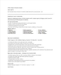 Early Childhood Education Resume Sample by Download Caregiver Resume Sample Haadyaooverbayresort Com