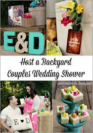 couples wedding shower ideas backyard couples wedding shower uncommon designs