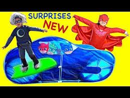 surprises pj masks cat car play tent romeo catboy gekko owlette