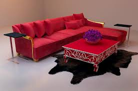 Bright Red Sofa Bao Yang Bright Red Sofa 3d Model Of L Type Including Materials