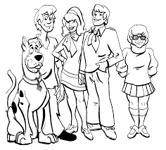 scooby doo printable coloring pages beautiful 328