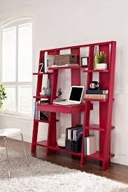 Sauder Ladder Bookcase by Red Ladder Bookcase With Desk Clever Design That Combines A