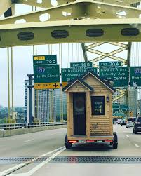 our tiny living by 84 lumber roving tinyhouse is on its way to