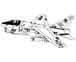 airline aircraft drawings amd coloring sheets 7 corsair ii