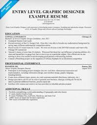 Resume Example Entry Level by Entry Level Graphic Designer Resume Student Resumecompanion Com