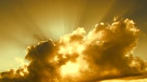 sun through clouds stock footage