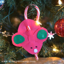make candy cane mice a kids christmas craft the diy mommy