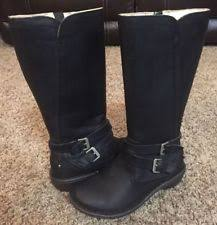 ugg s gershwin boots black ugg australia leather biker boots for ebay