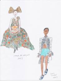 grace coddington sketched her favorite runway looks from the front