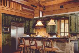 log home kitchens