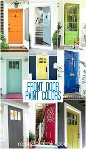 front door beautiful painted wooden front door for house ideas