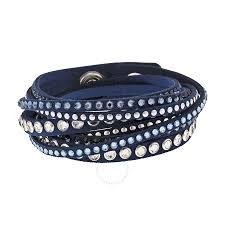 leather bracelet swarovski images Swarovski slake denim blue rock bracelet swarovski ladies jpg