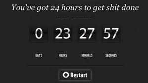 the 24 hour countdown clock is a in the arm to get things