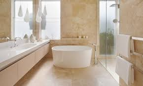 Travertine Bathroom Tiles Noce Travertine Bath Tiles Brown - Travertine in bathroom