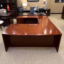 Computer Desk Cherry Wood Office Desk Ergonomic Computer Desk Corner Office Desk
