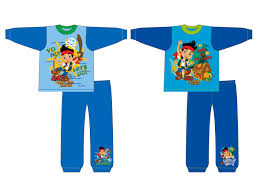 kids boys official disney jake neverland pirates long pyjamas