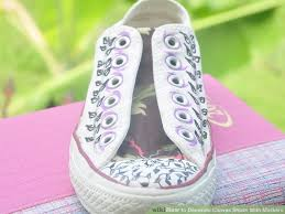 How To Decorate Shoes How To Decorate Canvas Shoes With Markers 8 Steps With Pictures