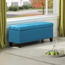 whi elena storage ottoman blue 402 136bl modern furniture canada