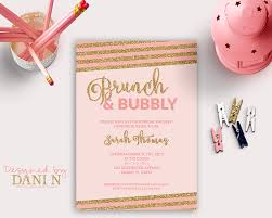 brunch bridal shower invitations bridal shower invitation brunch bubbly bridal shower