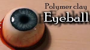 halloween polymer clay eyeball bloody eye ring eyes polymer