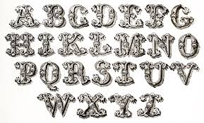 vintage typography ornamental lettering the graffical muse
