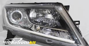 led strip lights headlights 2013 2016 nissan pathfinder hid bixenon retrofit strip headlights