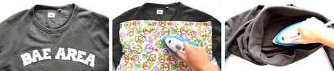 diy iron on letter bae area sweatshirt recess