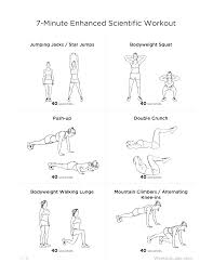 at home workout plans for women 7 minute enhanced scientific at home workout for men women