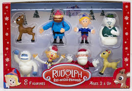 rudolph 2014 basic pvc figurine set of 8 sold out