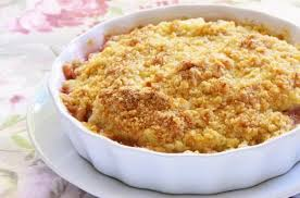 apple pear crumble nutty caramelised pear crumble