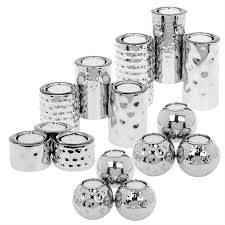 silver tea light holders set of 3 hammered tea light candle holders silver metal wedding ebay