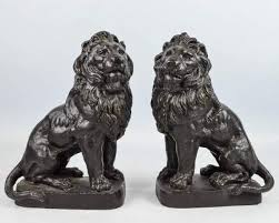 bookends lion heavy cast metal lion bookends shopgoodwill great reads for a