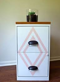 Chalk Paint On Metal Filing Cabinet Lateral File Cabinet Update Baskets On Wall Updated Filing