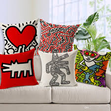 Chair Cushion Covers 8 Styles Artist Keith Haring Modern Ideas Paintings Cushions