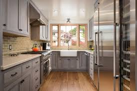 kitchens with gray cabinets kitchen galley kitchen with gray cabinets quartz countertop and