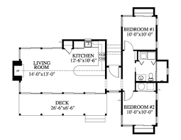 contemporary style house plan 2 beds 1 00 baths 877 sq ft plan