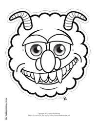 monster mask templates deep sea monster mask printout fun