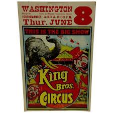 Circus Home Decor Vintage Circus Poster