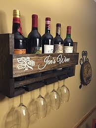 Wine Glass Wall Decor Amazon Com Custom Name Personalized Wine Rack Engraved Carved
