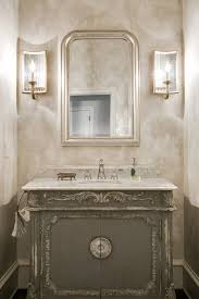 Beveled Bathroom Mirror by Powder Room Mirror Contemporary With Striped Walls Beveled