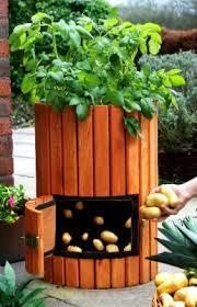 Patio Potato Planters Space Saving Patio Accessories Make It Easy To Grow A Garden