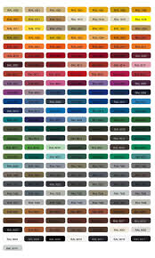color chart of thermoplastic pe and pvc powders