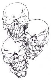 skull tattoo stencils