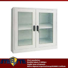 Office Wall Cabinets With Doors 2 Glass Door Display Cabinet With Adjustable 4 Shelves Living Room
