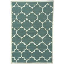 Green Area Rugs Berrnour Home Contemporary Moroccan Trellis Green 7 Ft 10 In