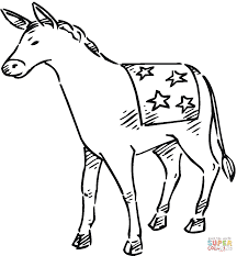 democrat donkey coloring free printable coloring pages