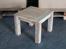 Teak Side Table Jambi Teak Side Table Rustic Finish