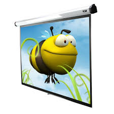 motorized home theater screen elite screens 100 in electric motorized projection screen with 24